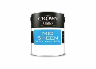 Crown Trade Mid Sheen Emulsion Brilliant White 5L