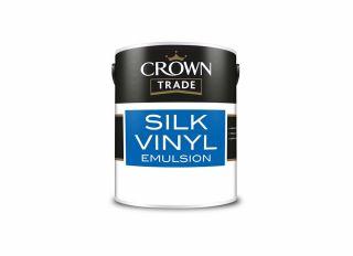 Crown Trade Vinyl Silk Emulsion Brilliant White 5L