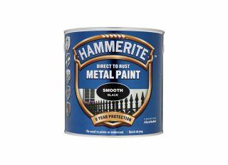 Hammerite Smooth Gloss Black 2.5L