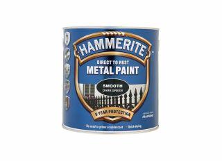 Hammerite Smooth Gloss Dark Green 2.5L