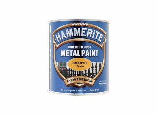 Hammerite Smooth Gloss Yellow 750ml