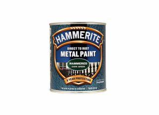 Hammerite Hammered Gloss Deep Green 750ml