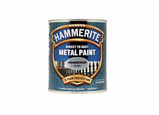 Hammerite Hammered Gloss Silver 750ml