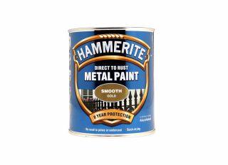 Hammerite Smooth Gloss Gold 750ml