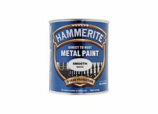 Hammerite Smooth Gloss White 750ml