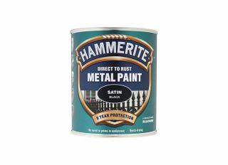Hammerite Satin Black 750ml