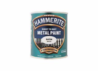 Hammerite Satin White 750ml