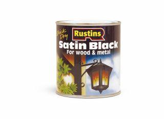 Rustins Satin Paint Black 250ml