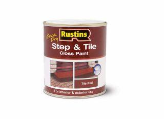 Rustins Step & Tile Gloss Red 250ml