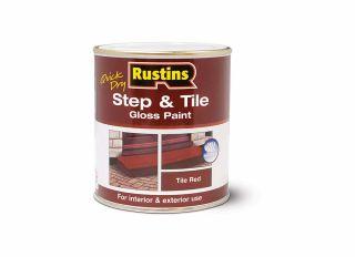 Rustins Step & Tile Gloss Red 500ml