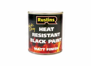 Rustins Heat Resistant Paint Black 500ml