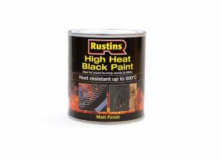 Rustins High Heat 600 Paint Black 500ml