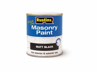 Rustins Quick Dry Masonary Paint Black 500ml