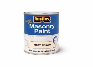 Rustins Quick Dry Masonary Paint Cream 250ml
