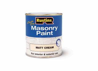 Rustins Quick Dry Masonary Paint Cream 500ml