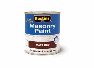 Rustins Quick Dry Masonary Paint Red 500ml