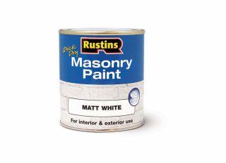Rustins Quick Dry Masonary Paint White 500ml