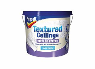 Polycell Textured Ceiling Ripple Finish 5L