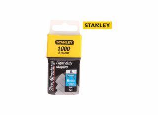 Stanley 8mm Light Duty Staples (Pack of 1000)