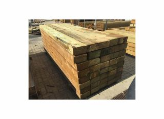 New Softwood Sleepers Green 3000 x 200 x 100mm (Approx)