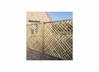 Grange Elite Square Top Trellis Fence 1800 x 1800mm ELTSQL6