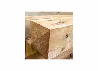 Timber Chamfered 4 Way Weathered Gate Post Green 150x2400mm