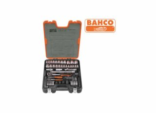 Bahco S800 Socket Set of 77 Metric & AF 1/4&1/2in Drive BAHS800