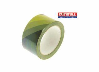 Faithfull Hazard Warning Safety Tape Black/Yellow 50mmx33m
