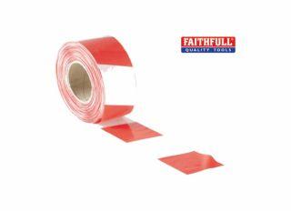 Faithfull Barrier Tape Red/White 70mmx500m