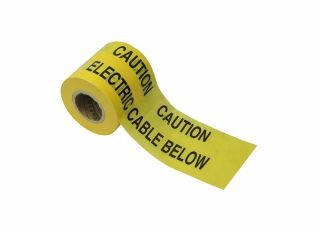 Faithfull Caution Electric Cable Below Warning Tape 365m