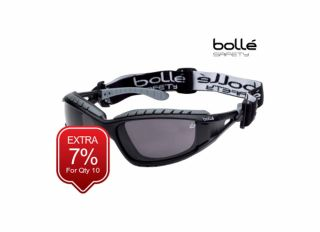 Bolle Tracker Safety Goggles Vented Smoke