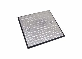 Clark-Drain Solid Top Cover & Frame Driveway 10T GPW 600x600mm PC7CG