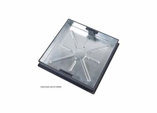 Clark-Drain Recessed Cover & Frame 10T GPW 580mm Square CD 450SR