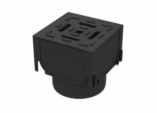 Aco Hexdrain Corner Unit c/w Plastic Grating