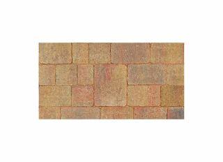 Brett Alpha Antique  Medium Block Paving Autumn Gold 140x140x50mm