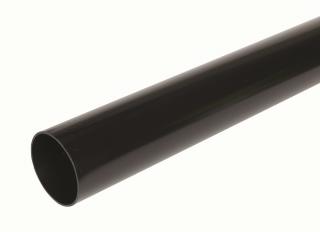 Hunter BR519 Rainwater Plain Ended Pipe Black 68mmx2.5m