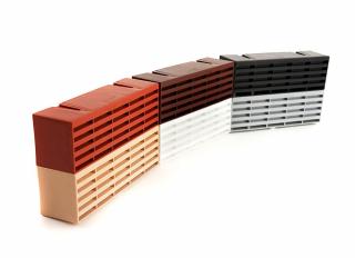 Timloc Plastic Air Brick Black 215x75mm (9x3in)