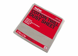 Rodo Prodec Cotton Twill Dust Sheet 3.7x3.7m (12x12ft)