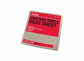 Rodo Prodec Cotton Twill Dust Sheet 3.6x2.7m (12x9ft)