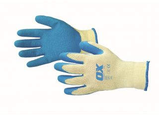 Ox Pro Latex Grip Gloves Size 9 Large