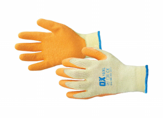 Ox Latex Grip Gloves Size 9 Large
