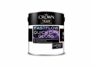 Crown Trade Fastflow Quick Dry Gloss Black 1L