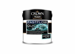 Crown Trade Fastflow Quick Dry Satin White 2.5L