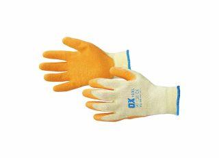 Ox Latex Grip Gloves - Size 8 Medium