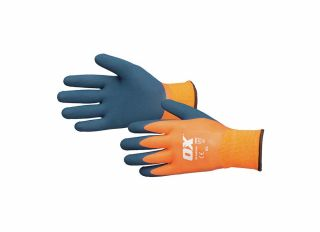 Ox Waterproof Thermal Latex Gloves Size 10 XLarge