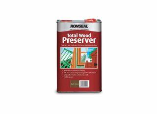Ronseal Total Wood Preserver Dark Brown 5L