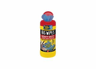 Big Wipes Heavy-Duty Cleaning Wipes Red Lid 4x4in (Tub 80)