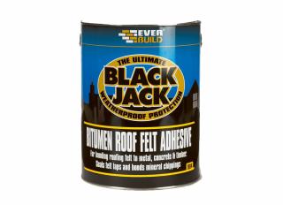 Everbuild 904 Black Jack Bitumen Roof Felt Adhesive 5L