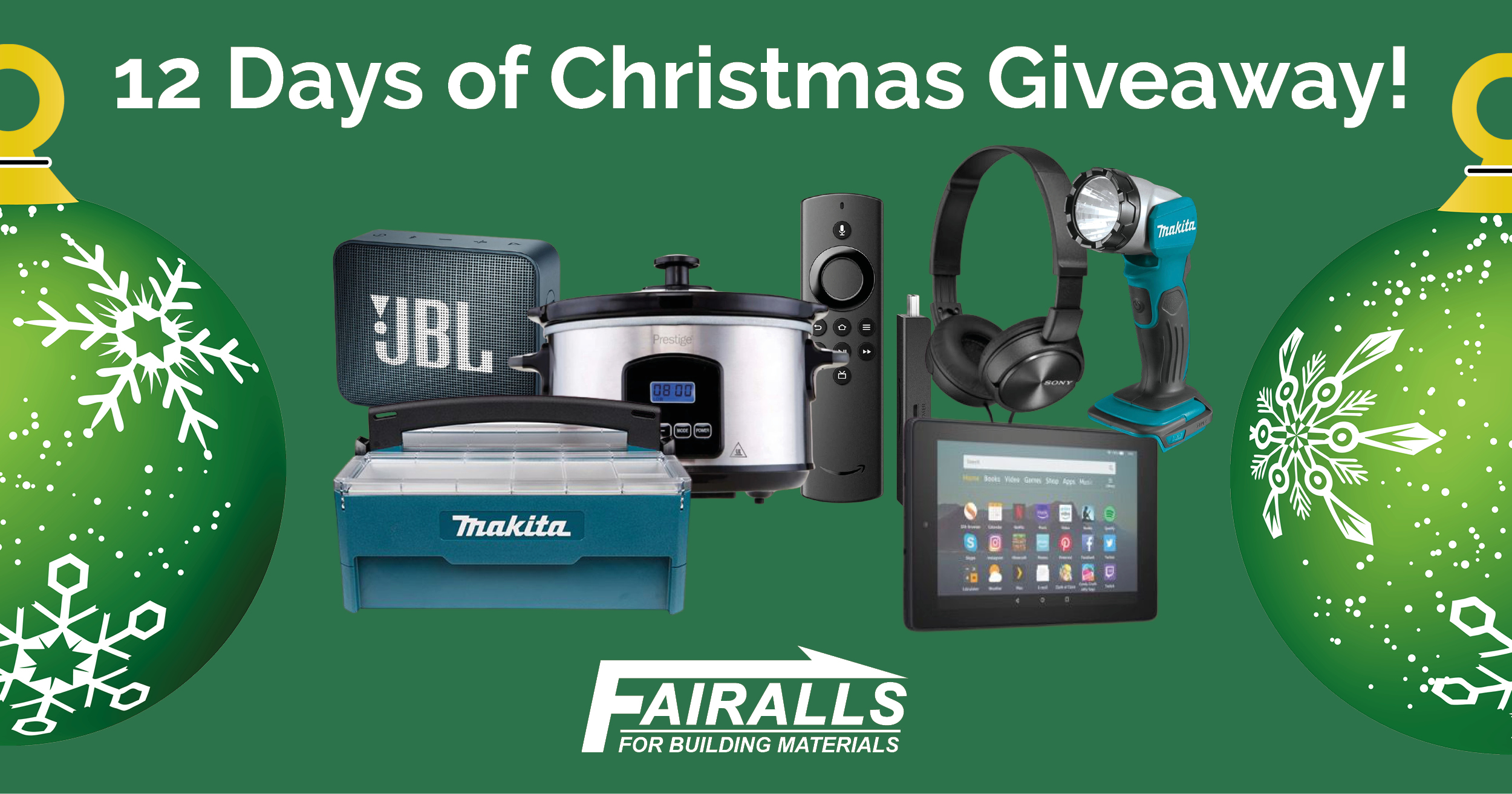 Our 12 days of Christmas giveaway is back! You could win some great prizes including a Fire 7 tablet, an Echo Dot & much more!