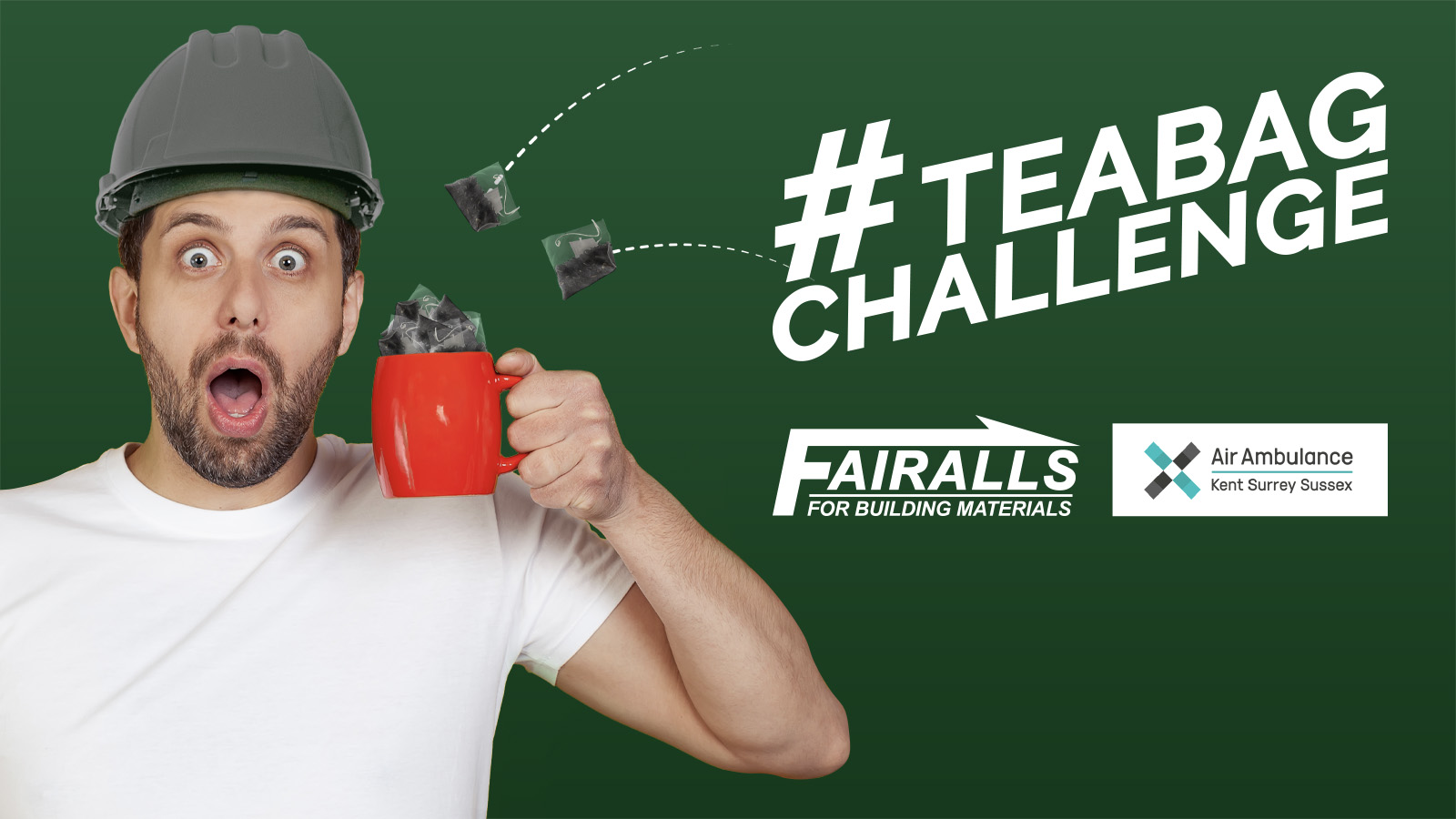 Will You Take on the #TeaBagChallenge for Air Ambulance Kent Surrey Sussex?